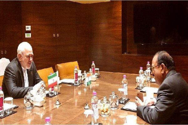ظریف کی ہندوستان کی قومی سلامتی کے مشیر سے ملاقات