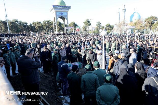 مراسم تشیع پیکر 3 شهید سانحه هوایی در گرگان