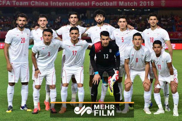 ورود بازیکنان تیم ملی امید به ورزشگاه محل بازی با چین