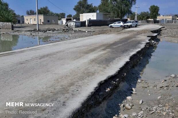 بارندگی ۴۰۰ میلیارد به راههای شمال سیستان و بلوچستان خسارت زد