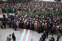 قم میں ہوائی جہاز کے حادثے کے 6 شہیدوں کی تشییع جنازہ