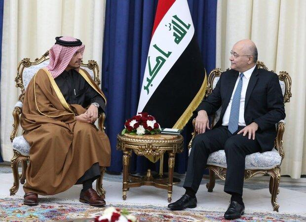 برهم صالح ونائب وزير الخارجية القطري يجتمعان في بغداد
