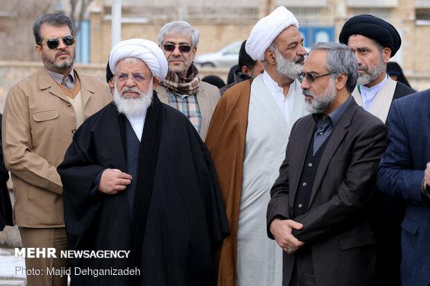 مراسم تشییع پیکر امیرحسین قربانی شهید سانحه هوایی در یزد