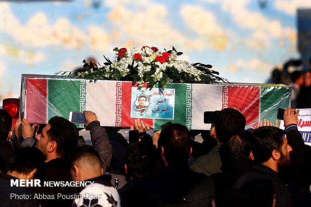 مراسم تشییع ۱۱ نفر از شهدای حادثه سقوط هواپیمای اوکراینی در اصفهان