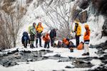 Hemedan kentindeki buz şelalesinden muhteşem fotoğraflar