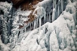 VIDEO: Frozen waterfall in Kerman province