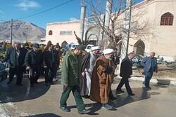 راهپیمایی پر شکوه مردم شهرستان دهاقان در حمایت از سپاه