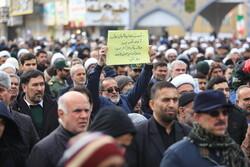 قم میں سپاہ پاسداران انقلاب اسلامی کی حمایت میں ریلی