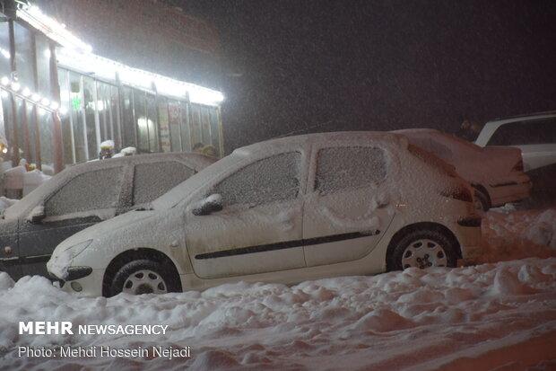 Snowfall in Heiran defile