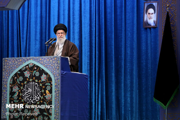 Ayatollah Khamenei in today's Friday prayers