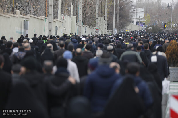 People come together for Tehran's Friday prayers