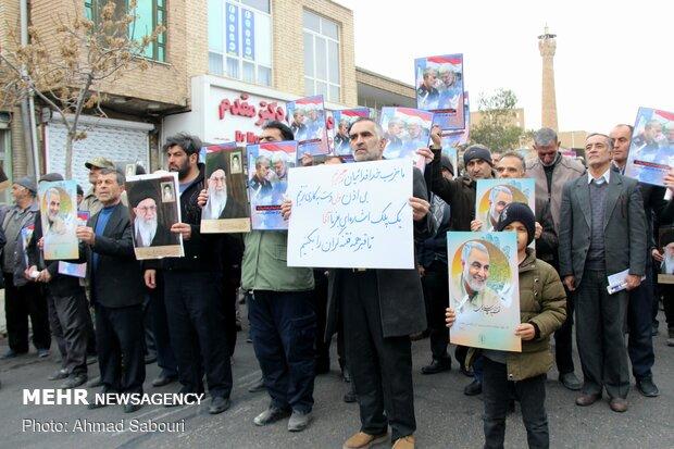 سمنان میں سپاہ پاسداران انقلاب اسلامی کی حمایت میں عوامی ریلی