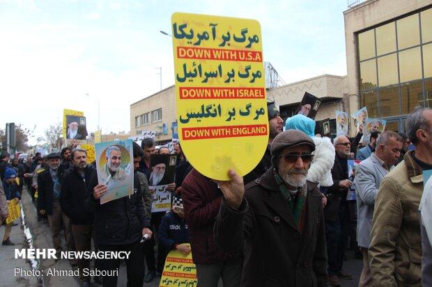 راهپیمایی حمایت از صلابت نظام اسلامی در سرزمین آفتاب برگزار شد