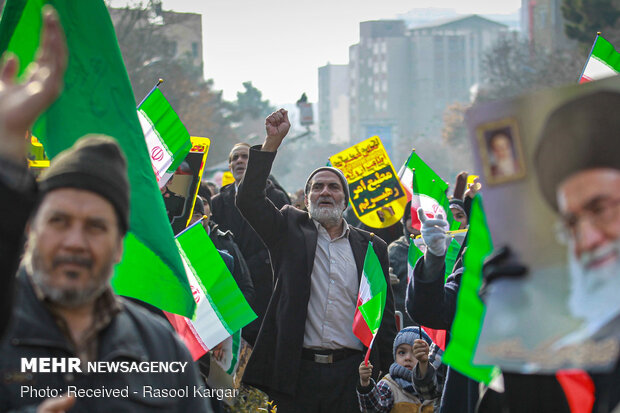راهپیمایی مردم مشهد در حمایت از سپاه پاسداران انقلاب اسلامی