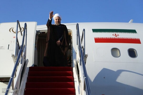 صدر حسن روحانی صوبہ سیستان و بلوچستان پہنچ گئے