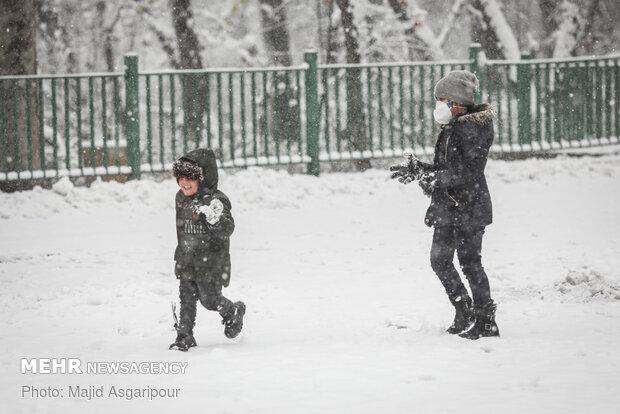 Snow blankets the Iranian capital