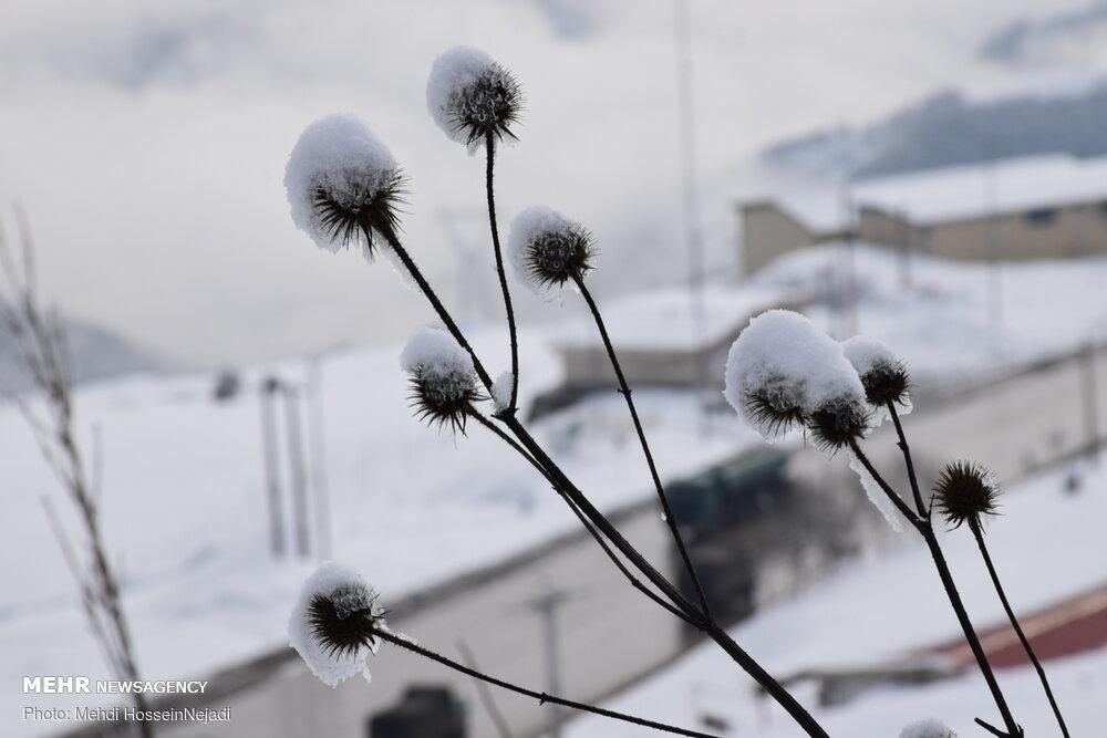 Hayran köyünde kış manzarası
