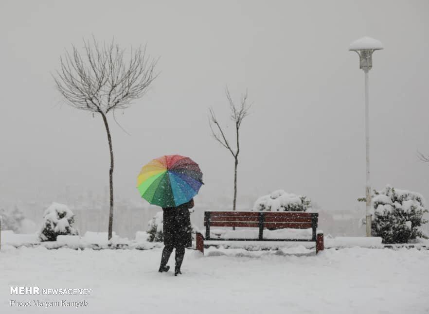 Tahran'dan kar manzaraları!