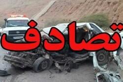 تصادف سه خودرو در محور سنندج - دیواندره چهار کشته به جا گذاشت
