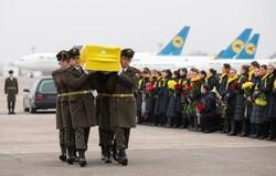 بەڕێ کردنی تەرمی ۱۱ کوژراوی فڕۆکەی ئۆکراین