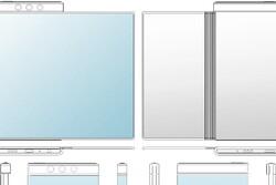 طرح اولیه از موبایلی که نمایشگر دور آن می پیچد