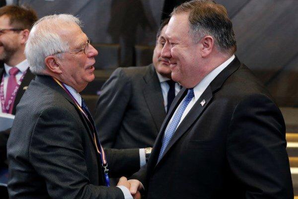 پمپئو و بورل برای مقابله با ایران رایزنی کردند