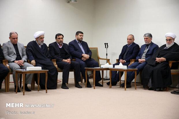 دیدار جمعی از مسئولان حج با رهبر معظم انقلاب