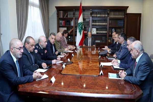 محتوای نشست مهم امنیتی لبنان به ریاست میشل عون