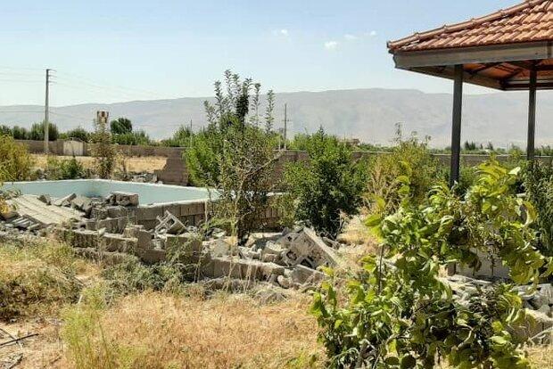 تخریب ۴۱ واحد مسکونی و خانه باغ  غیرمجاز در روستاهای تنگستان