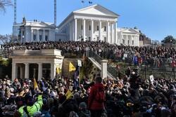 مظاهرات مؤيدي قانون حيازة الأسلحة في أميركا/صور