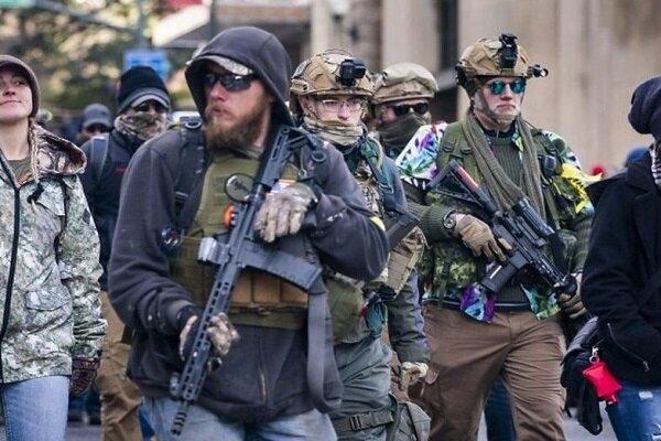 تظاهرات حامیان حمل سلاح در آمریکا در واکنش به احتمال محدودیت