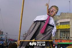 ہالینڈ کو میں امریکی صدر ٹرمپ کی علامتی طور پر گرفتاری
