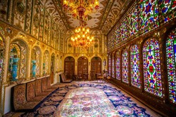 A glance at a lavishly decorated house in central Iran