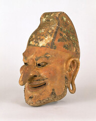 Gigaku Mask of Suiko-o (Drunken Persian King); Nara period, 8th century; Shosoin (The Shosoin Treasures); (On exhibit from October 14 to November 4, 2019 at Tokyo National Museum)