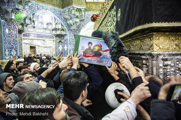 مراسم تشییع حجت الاسلام سید رحمت الله موسوی شهید مدافع حرم در قم