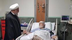 رئیسجمهور  از حجتالاسلام شهیدی محلاتی عیادت کرد