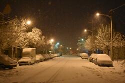 اراک کی برفانی رات