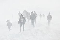 التسلي بالعاصفة الثلجية / صور