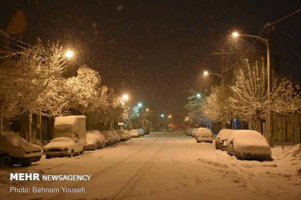 شیراز میں برف باری
