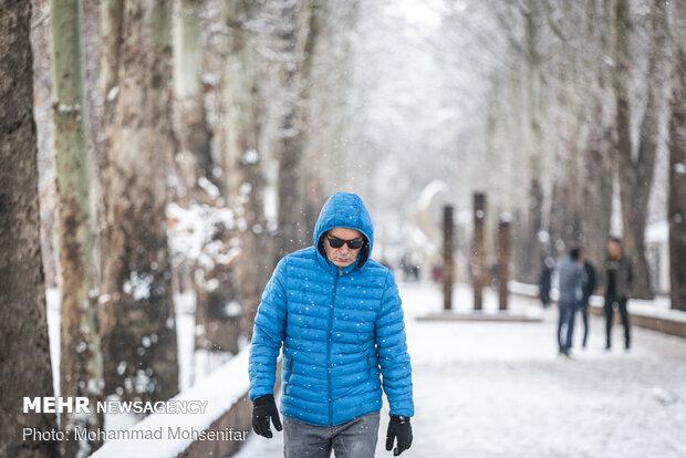 جلوههای زیبا از برف زمستانی در اردبیل