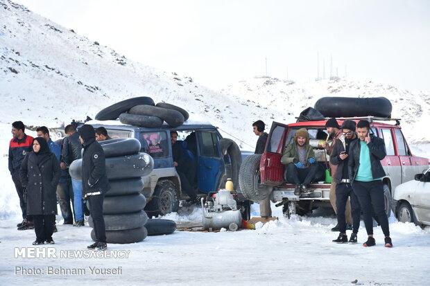 تیوپ سواری در ارتفاعات اراک