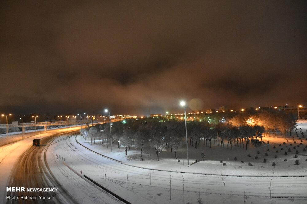 شب برفی اراک