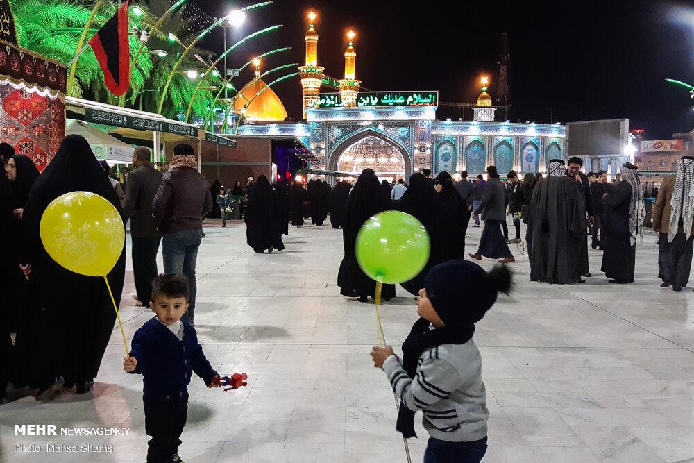 حال و هوای بین الحرمین در شب زیارتی ارباب