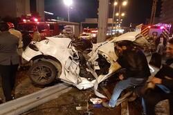 دو کشته و سه مصدوم در تصادف بزرگراه نیایش/ جزئیات حادثه