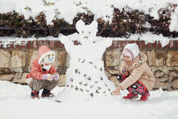 ہمدان میں برفی مجسمہ بنانے کا مقابلہ