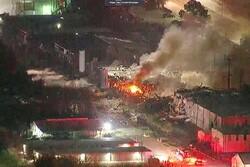 امریکی ریاست ٹیکساس میں زوردار دھماکہ/ پرخوفناک  آگ بھڑک اُٹھی