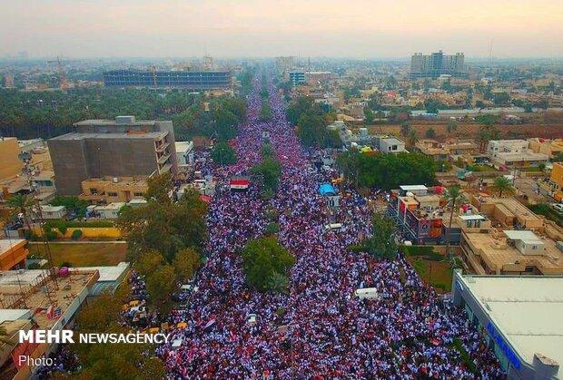وحدت میلیونی مردم عراق برای اخراج تروریست های آمریکایی