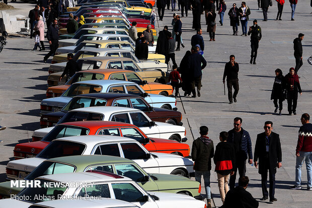 Vintage car show in Isfahan