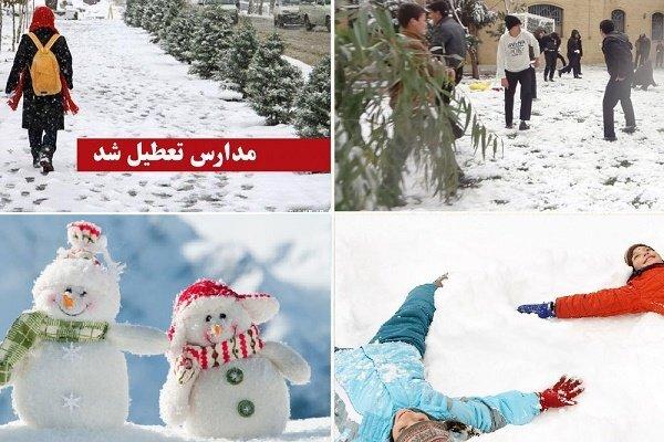برف مدارس آذربایجان شرقی را تعطیل کرد