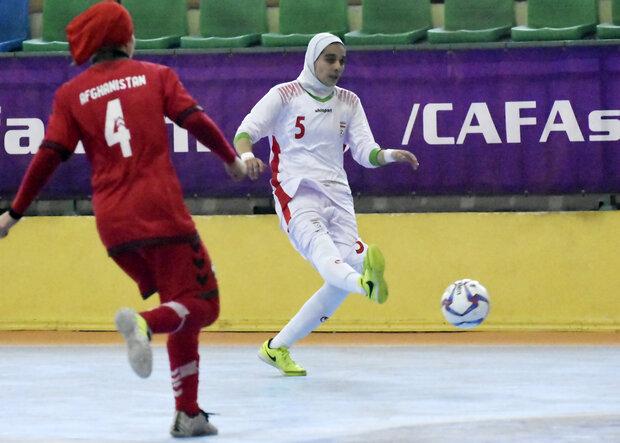 Iran beat Afghanistan at CAFA U19 Girl's Futsal C'ship